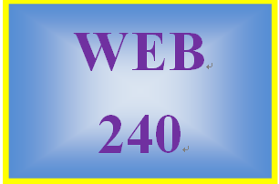 WEB 240 Week 4 Individual: Virtual Organization Project, Part 3