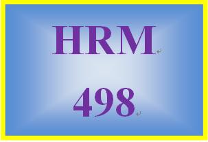 HRM 498 Week 5 Strategic HRM Plan