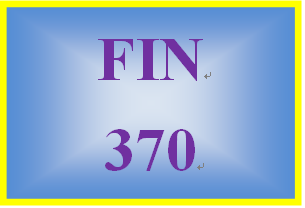 FIN 370 Week 3 Precision Machines Part 1