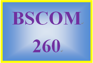 BSCOM 260 Week 3 Final Project: Research Summary
