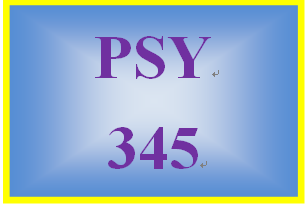 PSY 345 Week 5 Chemical Senses Pape