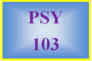 PSY 103 Week 1 Origins of Psychology and Research Methods Worksheet