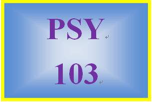 PSY 103 Week 2 Learning Experience Paper
