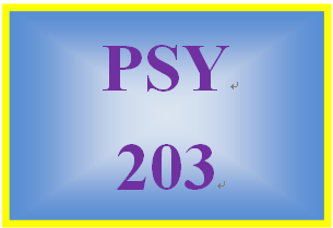 PSY 203 Week 3 Week Three Quiz