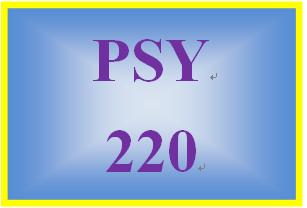 PSY 220 Week 3 Goal Selection