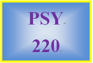 PSY 220 Week 7 Self-Esteem