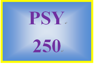 PSY 250 Week 2 Learning Team Assignment