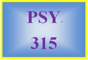 PSY 315 Week 2 Week Two Practice Problems Worksheet