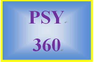 PSY 360 Week 4 Memory worksheet
