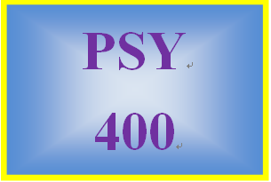PSY 400 Week 2 Learning Team Charter started in week #1