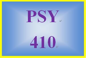 PSY 410 Week 5 Individual Programmatic Assessment: Week Five Programmatic Assessment
