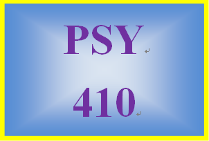 PSY 410 Entire Course