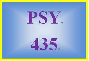 PSY 435 Entire Course