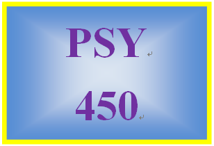 PSY 450 Week 3 Psychological Disorder Paper