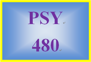 PSY 480 Week 5 Contemporary Issues Presentation