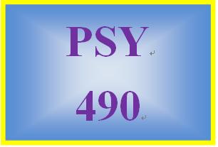 PSY 490 Week 2 Psychological Issue Summary