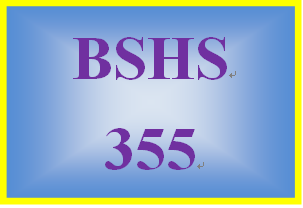 BSHS 355 Week 5 Personal Interview Paper
