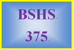 BSHS 375 Week 2 Database – Demographic Information