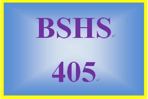BSHS 405 Week 4 Week Four Short Answer