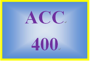 ACC 400 Week 3 Assignment from the Textbook