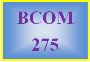 BCOM 275 Week 2 Demonstrative Communication Paper