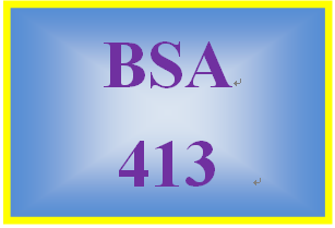 BSA 413 Week 3 Learning Team: Service Transition