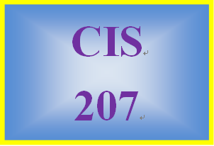 CIS 207 Week 3 Individual: Web or Mobile System Paper