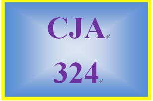 CJA 324 Week 1 Weekly Summary
