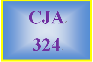 CJA 324 Week 2 Weekly Summary