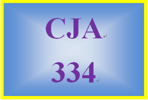 CJA 334 Week 3 Learning Team Research Proposal Part I