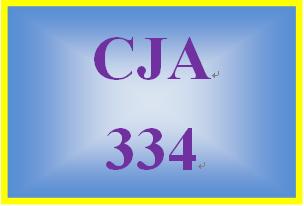 CJA 334 Week 4 Learning Team Instructions