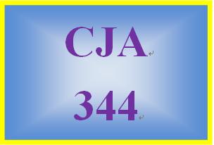 CJA 344 Week 4 Weekly Summary