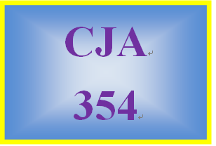 CJA 354 Entire Course All DQs