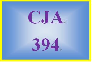 CJA 394 Week 1 Criminal Justice Trends Evaluation