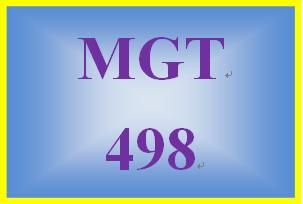 MGT 498 Week 4 Learning Team Weekly Reflection