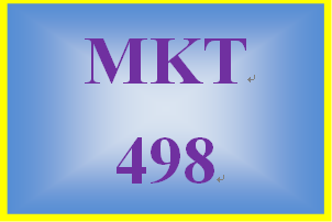 MKT 498 Week 2 Product and Market Identification