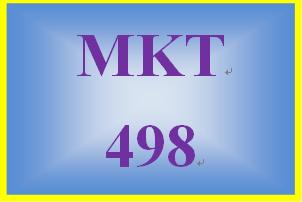 MKT 498 Week 3 Integrated Marketing Communication: Target Market
