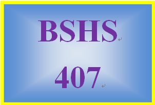 BSHS 407 Week 3 Child Exploitation