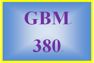 GBM 380 Week 1 Globalization Paper