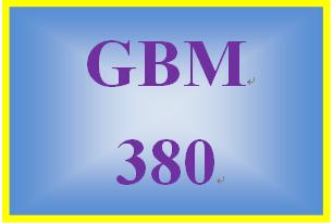 GBM 380 Week 4 WK 4 Team Project – Feasibility Study