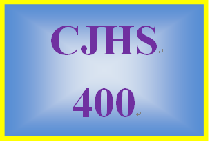 CJHS 400 Week 3 Cognitive Theory: Behavior Plan