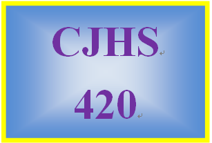 CJHS420 Week 5 Learning Team Assignment