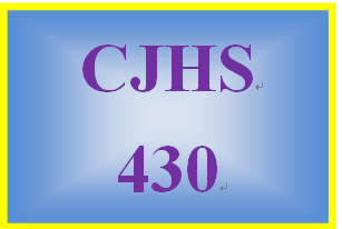 CJHS430 Week 5 Parole for the Elderly