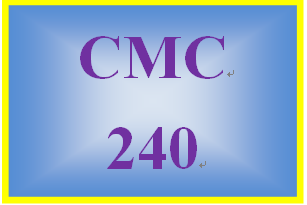 CMC 240 Week 8 Writing Your Story
