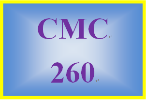 CMC 260 Week 7 Outline for Guidebook Section Six