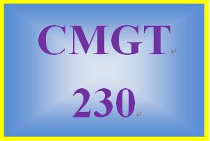 CMGT 230 Week 2 Individual Wireless Network Setup