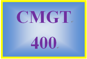 CMGT 400 Week 1 Risky Situations