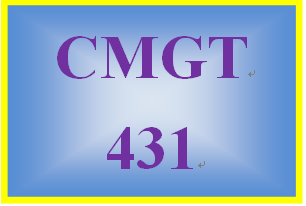 CMGT 431 Week 3 Learning Team Test Questions