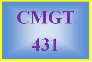 CMGT 431 Entire Course