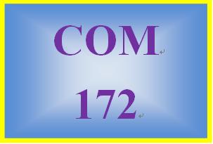 COM 172 Week 2 Week Two Exercises